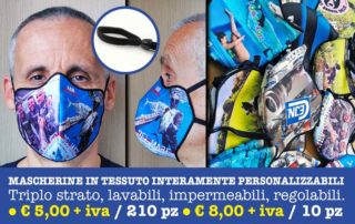 Fully customizable fabric masks